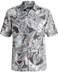 Quiksilver Waterman Leaf Print Short Sleeve Shirt