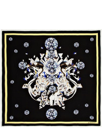 Givenchy Diamond Eagle Printed Silk Crepe De Chine Scarf