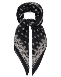 Saint Laurent Paisley Print Cashmere And Silk Blend Scarf