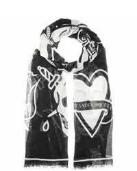 Alexander McQueen Printed Silk Blend Scarf