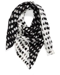 Halogen Ripple Dots Square Silk Scarf