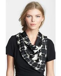 Weekend Max Mara Graphic Print Silk Scarf Black One Size One Size