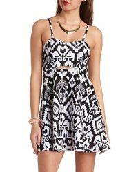 1aee71622059 Women s Black and White Skater Dresses from Charlotte Russe ...