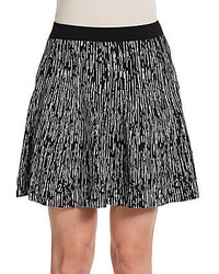Black and White Print Skater Skirt