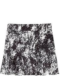 Black Splatter Swing Skirt