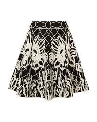 Alexander McQueen Jacquard Knit Mini Skirt
