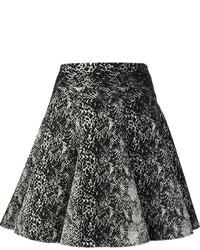 Lanvin Snakeskin Print Skater Skirt