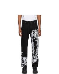 Liam Hodges Black Alfie Kungu Edition Chain Jeans
