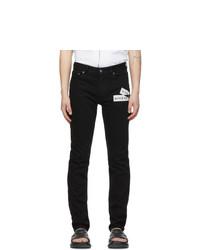 Givenchy Black Webbing Print Slim Fit Jeans