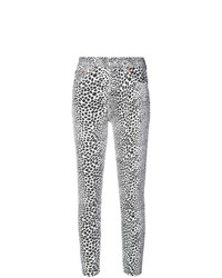 RE/DONE High Rise Cheetah Skinny Jeans