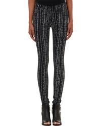 Rag and Bone Rag Bone Barcode Print Flannel Legging Jeans