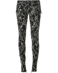 Balmain Printed Skinny Trousers