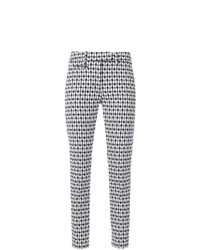 Dondup Print Slim Fit Cropped Trousers