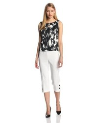 Sleeveless printed top and pant set medium 55688