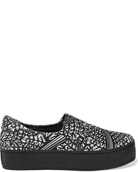 Opening Ceremony Printed Neoprene Slip On Sneakers