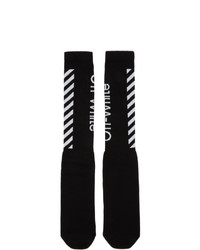 Off-White Black And White Diag Socks