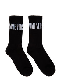 Versace Black And White Lhomme Socks
