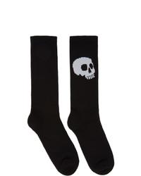 Palm Angels Black And White Skull Socks