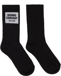 Opening Ceremony Black Box Logo Socks