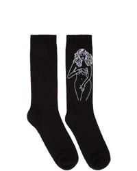 Palm Angels Black Graphic Socks