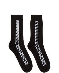 Versace Black Greek Key Socks
