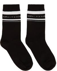 1017 Alyx 9Sm Black Horizontal Stripe Logo Socks