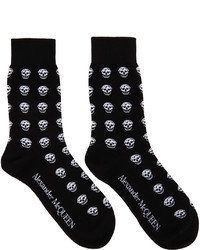 Alexander McQueen Black White Skull Socks