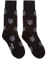 Black white tiger socks medium 286854