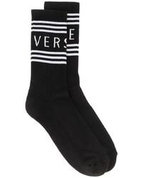 Versace Logo Print Socks