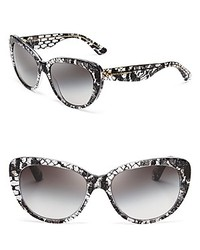 Black Lace Cat Eye Sunglasses