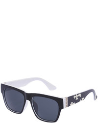 Romwe Cross Print Chunky Sunglasses