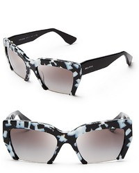 Miu Miu Semi Rimless Geometric Sunglasses