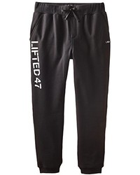 Black and White Print Sweatpants