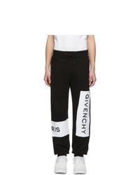 Givenchy Black And White Logo Jogging Lounge Pants