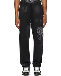 Marcelo Burlon County of Milan Black Graphic Lounge Pants