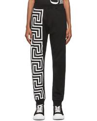 Versace Black Greca Print Lounge Pants