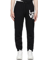 Burberry Black Print Love Jogging Lounge Pants