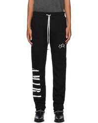 Amiri Black Vertical Logo Lounge Pants