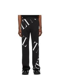 Valentino Black Vltn Macrogrid Lounge Pants