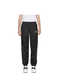 Valentino Black Vltn Star Track Pants
