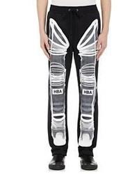 Hood by Air Astronaut Print Fleece Sweatpants