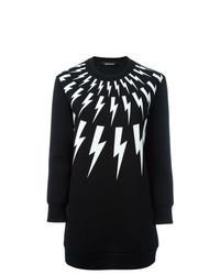 Black and White Print Sweatshirt