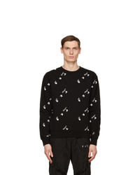 Off-White Black And White All Over Logo Sweatshirt