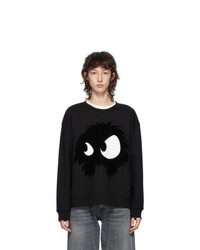 McQ Alexander McQueen Black Chester Monster Sweatshirt
