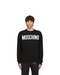 Moschino Black Cotton Logo Sweatshirt