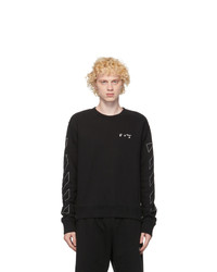 Off-White Black Diag Slim Sweatshirt