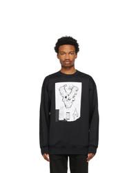 Acne Studios Black Flocked Graphic Sweatshirt