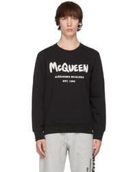 Alexander McQueen Black Graffiti Sweatshirt