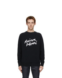 MAISON KITSUNÉ Black Handwriting Sweatshirt