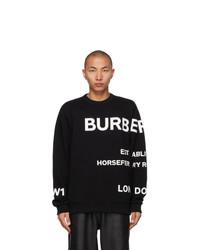 Burberry Black Horseferry Sweatshirt